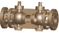 Double Block og Bleed Ball Valve leverandør