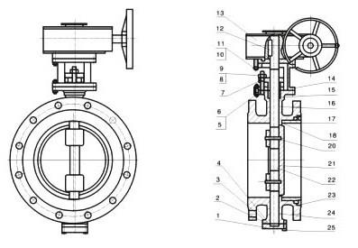 Cryogenic Triple Offset Butterfly Valve