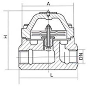 Bimetal Dampmaschinnen Trap fir Ofsaz