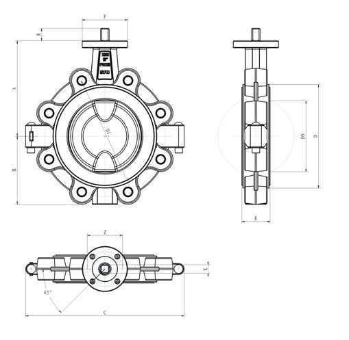 cheap Lug Type Fully Lined Butterfly Valve