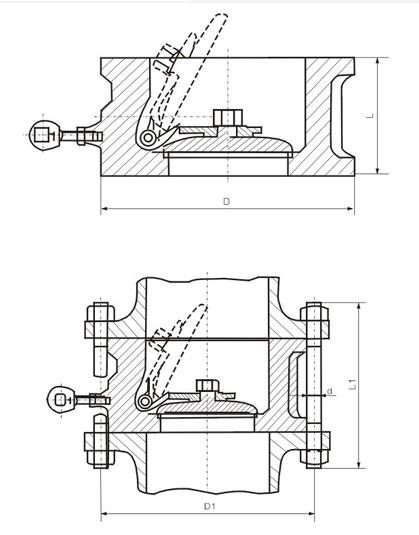 Single-disk Balanse Wafer Tcheke Valv pou lavant