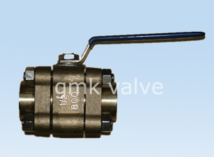 Brûnzen Ball valve screw ein