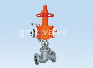 Globe Valve with pneumatic actuator