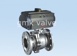 Ball Valve with aluminum pneumatic actuator