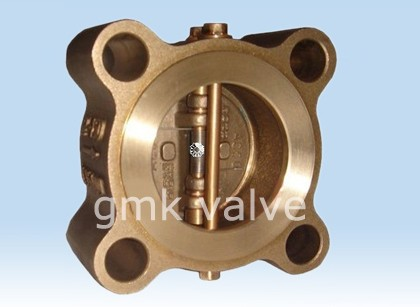 Bronze Dual Plate Lug Type Kontrolearje Valve Featured Image