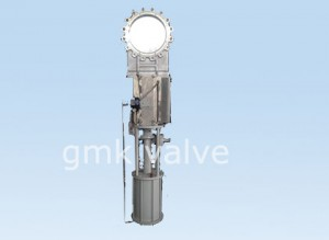 knife gate valve with pneumatic actuator