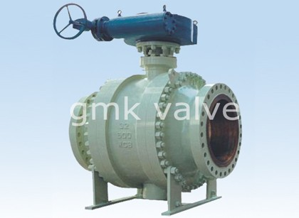 Cast Steel trunnion Luna Ball Valve