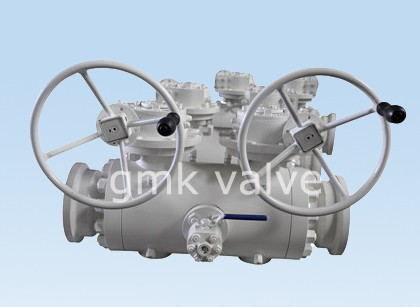 Double Block Lan Bleed Ball Valve