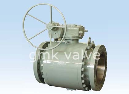Ditempa Baja Trunnion Mounted Ball Valve