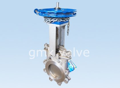 Жаңы түрү Chain Колесен Knife Gate Valve