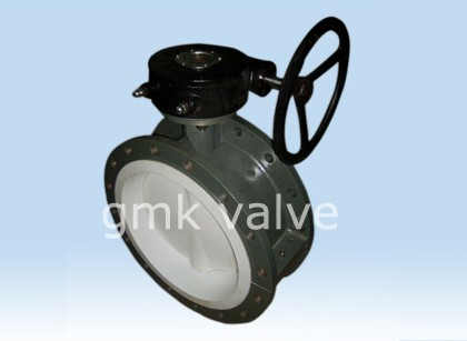 Short Double Flange Fully Lined Butterfly Valve
