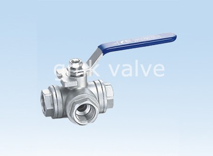 Three Way Thread Ball Valve